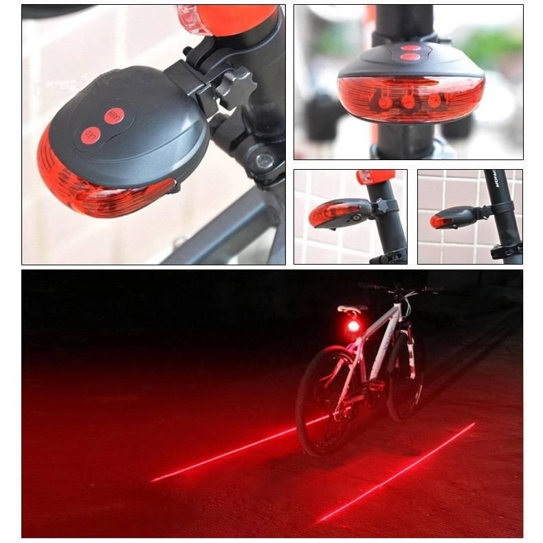 Kerékpár lámpa lézersávval