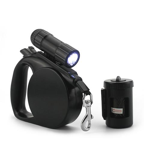 Kutyapóráz LED lámpával és zacsi tárolóval