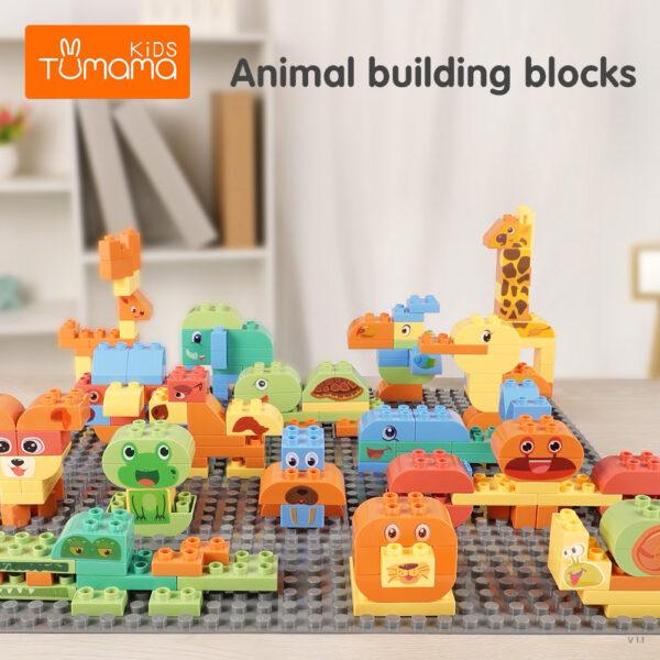 150 darabos állatos építőkocka készlet
