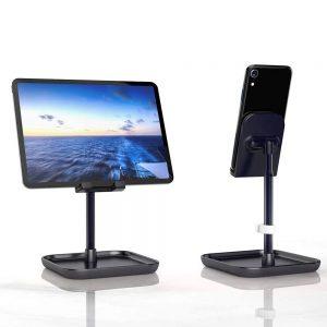 Állítható magasságú asztali mobiltelefon és tablet tartó