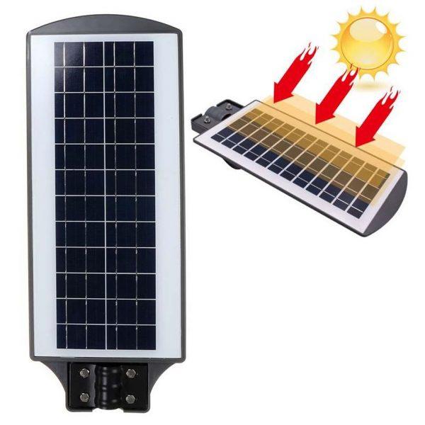 Napelemes Kültéri LED Lámpa Mozgásérzékelővel 120W